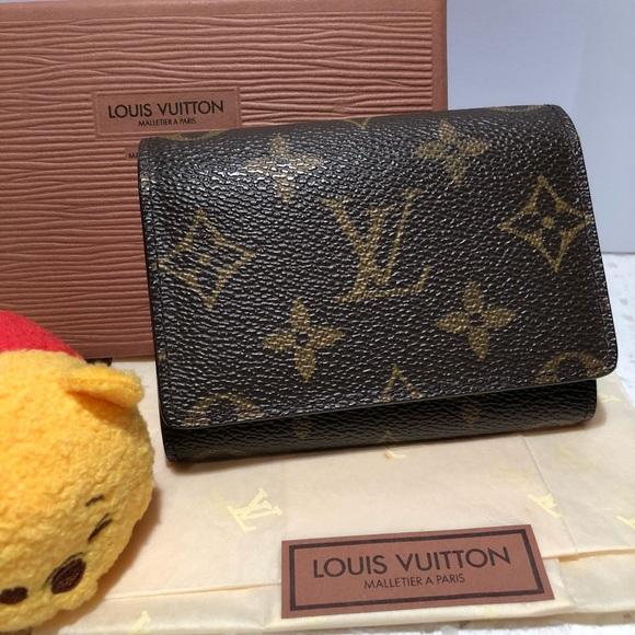 Louis vuitton monogram business card holder poshmark louis vuitton monogram business card holder colourmoves